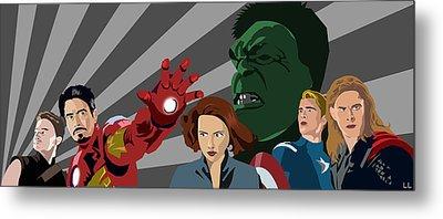 Avengers Assemble Metal Print by Lisa Leeman
