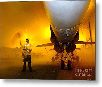 Aviation Boatswains Mate Waves Class Metal Print by Stocktrek Images