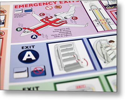 Aviation Information Metal Print by Ricky Barnard