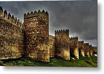 Avila - Town Walls Metal Print by Juergen Weiss