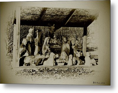 Away In The Manger Metal Print by Bill Cannon