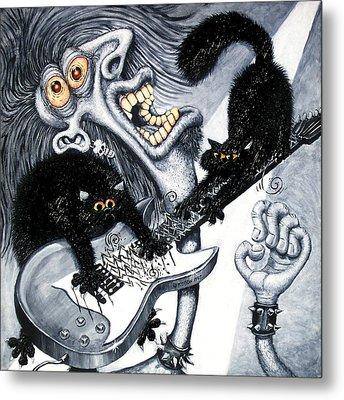 Axe And Violence Metal Print by Baron Dixon