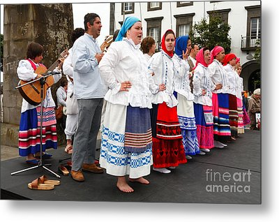 Azorean Folk Music Group Metal Print by Gaspar Avila