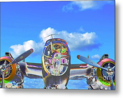 B-25j Jazzed Metal Print by Lynda Dawson-Youngclaus