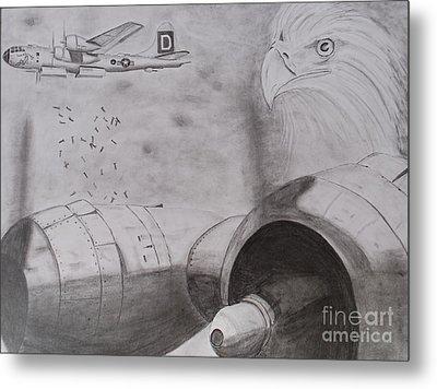 B-29 Bombing Run Over Europe Metal Print by Brian Hustead