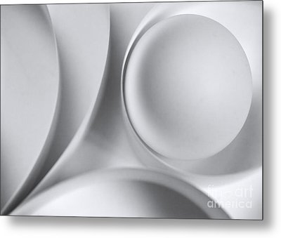 Ball And Curves 04 Metal Print by Nailia Schwarz