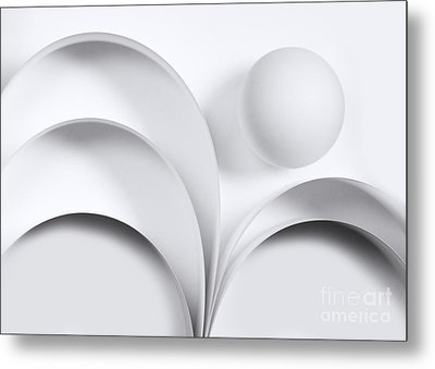 Ball And Curves 05 Metal Print by Nailia Schwarz