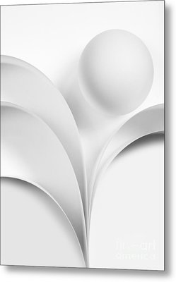 Ball And Curves 07 Metal Print by Nailia Schwarz
