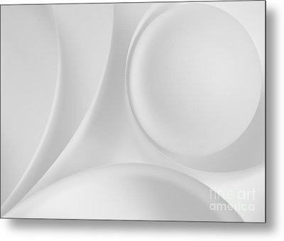 Ball And Curves 08 Metal Print by Nailia Schwarz