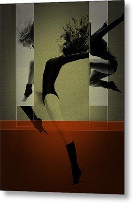 Ballet Dancing Metal Print by Naxart Studio