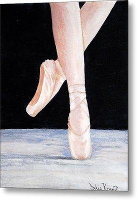 Ballet Shoes Metal Print by Julie Kraft