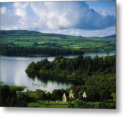 Ballindoon Abbey, Lough Arrow, Co Metal Print by The Irish Image Collection