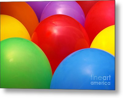 Balloons Background Metal Print by Carlos Caetano
