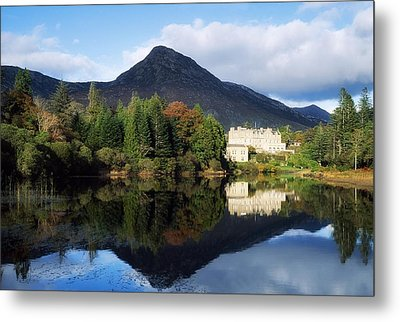 Ballynahinch Castle Hotel, Twelve Bens Metal Print by The Irish Image Collection