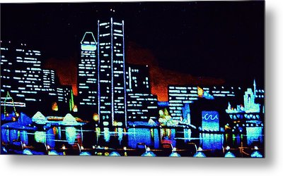 Baltimore By Black Light Metal Print by Thomas Kolendra