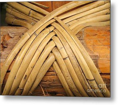 Bamboo And Wood Construction Metal Print by Yali Shi