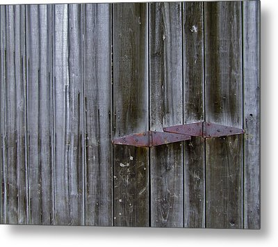Barn Hinge Metal Print by Richard Gregurich