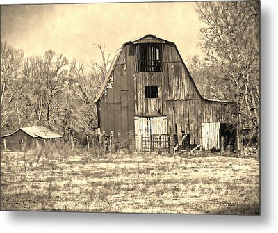 Barn-sepia Metal Print by EricaMaxine  Price