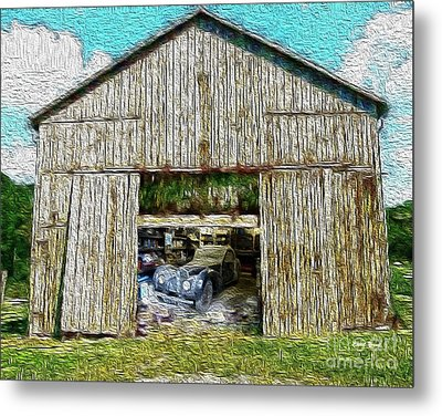 Barn Treasures Metal Print by Cheryl Young