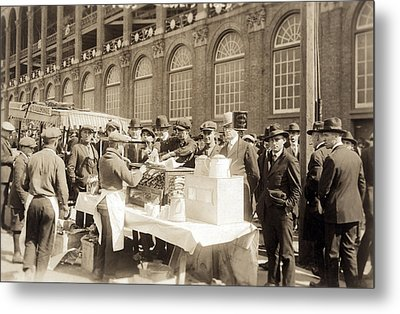 Baseball. Hot Dog Vendors Sell To Fans Metal Print by Everett