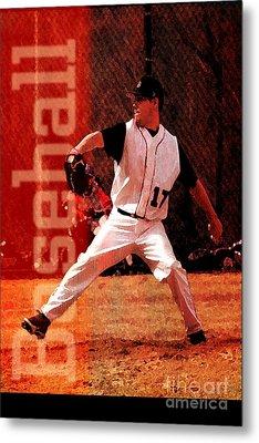 Baseball Metal Print by John Turek