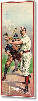Baseball Player, C1895 Metal Print by Granger