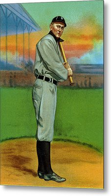 Baseball. Ty Cobb Baseball Card Metal Print by Everett