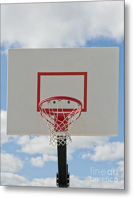 Basketball Backboard With Hoop And Net Metal Print by Thom Gourley/Flatbread Images, LLC