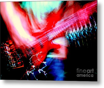 Bass Guitar 1 Metal Print by Jason D Rogers