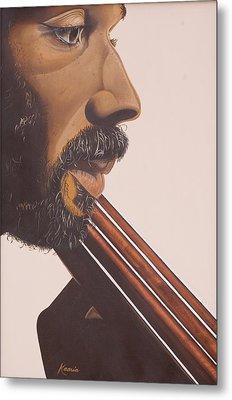 Bass Player Iv Metal Print by Kaaria Mucherera