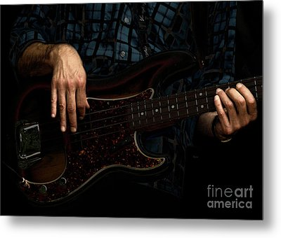 Bass Side Blues Metal Print by Steven  Digman