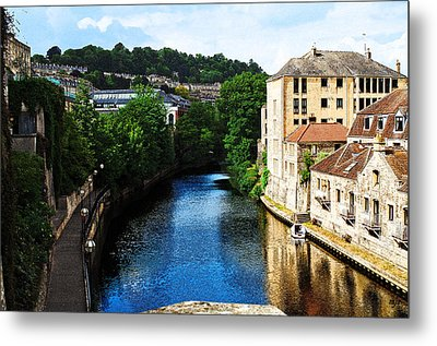 Bath Metal Print by MaryJane Armstrong