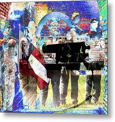 Battle Abstract Metal Print by Patricia Januszkiewicz
