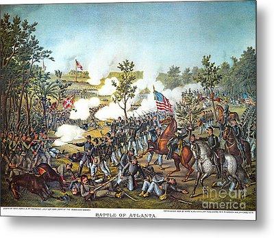 Battle Of Atlanta, 1864 Metal Print by Granger