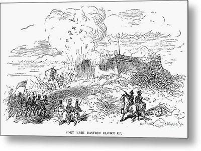 Battle Of Fort Erie, 1814 Metal Print by Granger