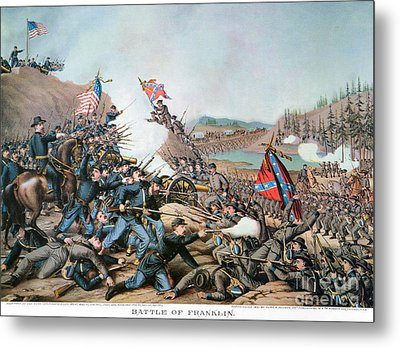 Battle Of Franklin, 1864 Metal Print by Granger