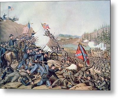 Battle Of Franklin November 30th 1864 Metal Print by American School