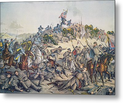 Battle Of Nashville December 15-16th 1864 Metal Print by American School