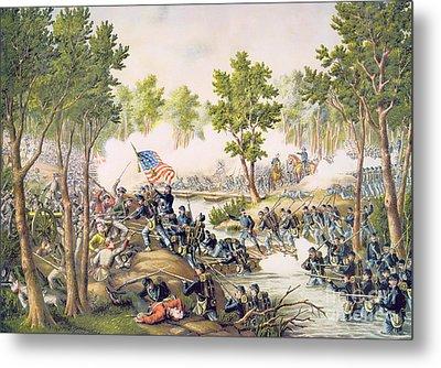 Battle Of Spottsylvania May 1864 Metal Print by American School