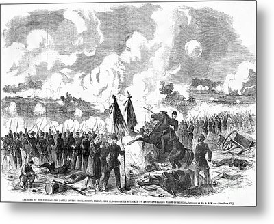 Battle Of The Chickahominy Metal Print by Granger