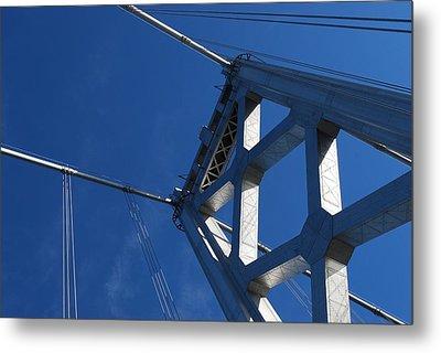 Bay Bridge And Blue Sky, San Francisco Metal Print by Jamie Jennings www.JJphotos.ca
