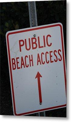 Beach Access Metal Print by Static Studios