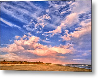 Beach At Sullivan's Island Metal Print by Dominic Piperata