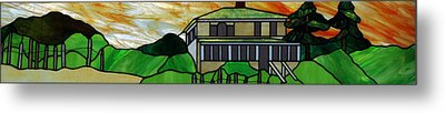 Beach House Metal Print by Jane Croteau