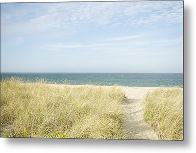 Beach Path, Nantucket Metal Print by Blue Line Pictures