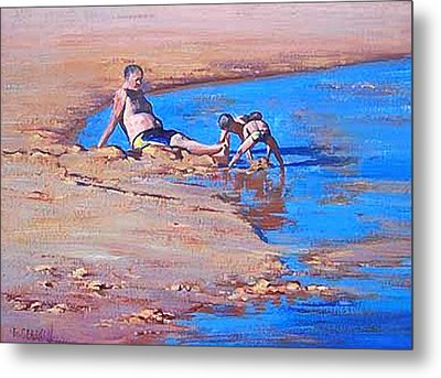 Beach Play Metal Print by Graham Gercken