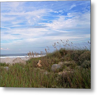 Beach Rocks Metal Print by Patricia Taylor