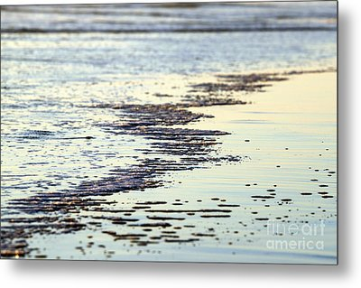 Beach Water Metal Print by Henrik Lehnerer