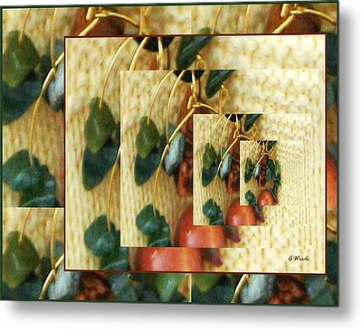 Beads On Ivory Knit Metal Print by Gretchen Wrede