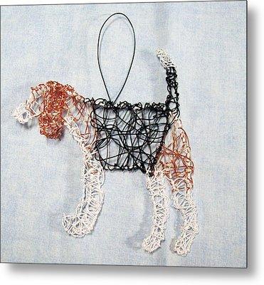 Beagle Ornament Metal Print by Charlene White